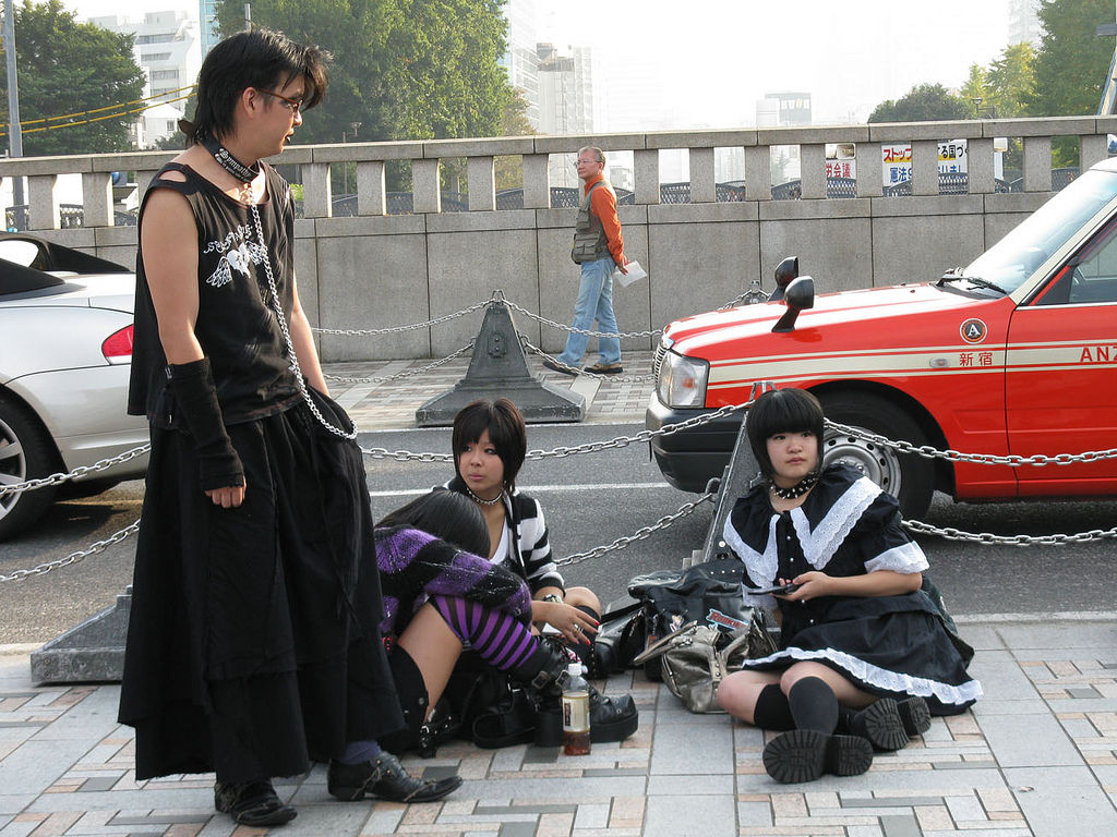 goth kids harajuku