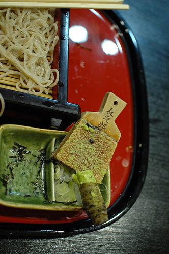 soba and wasabi