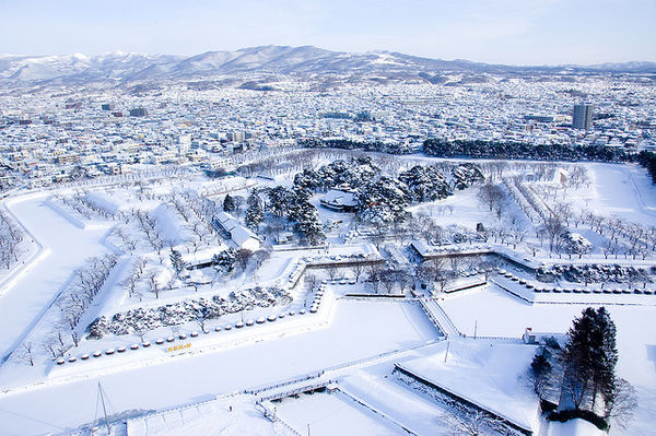 Fort Goryokaku winter