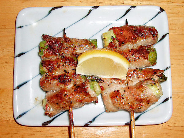 asuparabekon yakitori in Japan