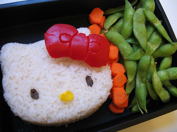hello kitty and edamame
