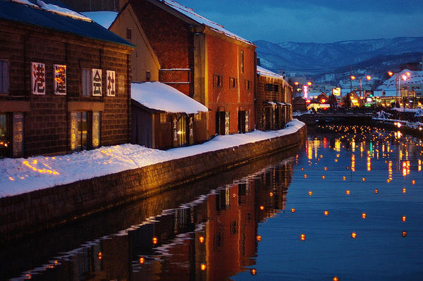 lanterns of the Otaru snow festival