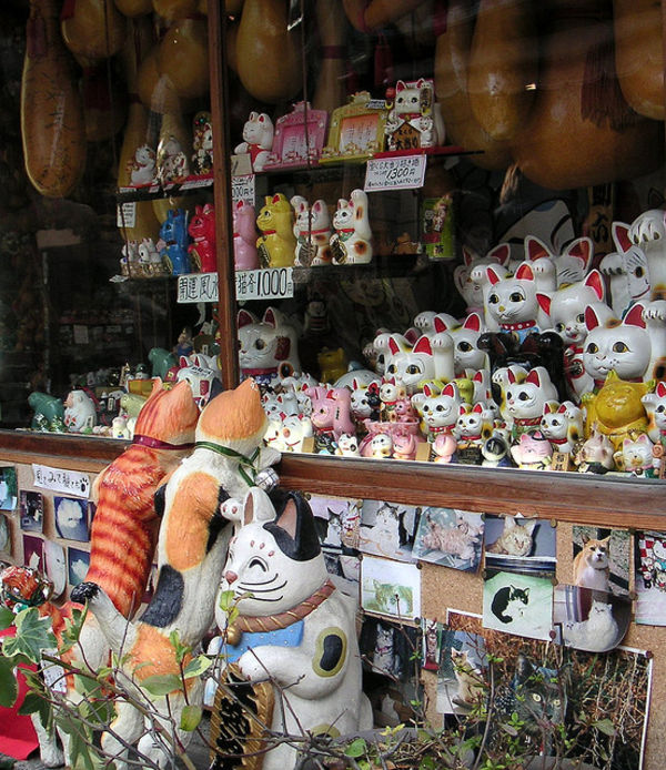 lucky cat shop near kiyomizudera