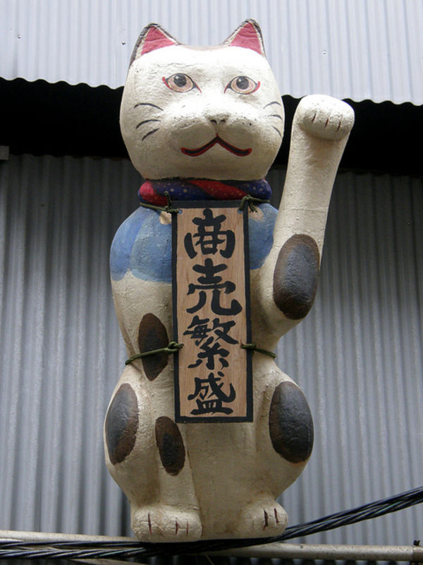 lucky cats in Japan