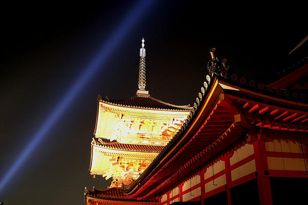 night temples Kyoto