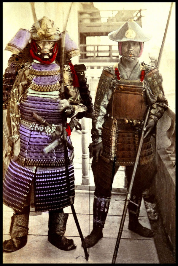 samurai in armor 1870s