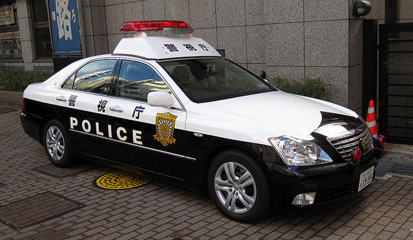 typical japanese police car