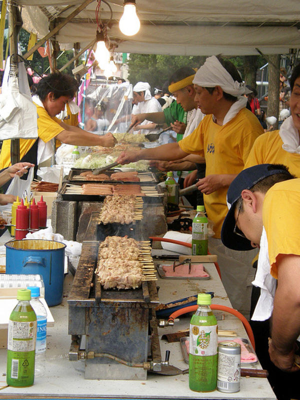 yakitori is festival food