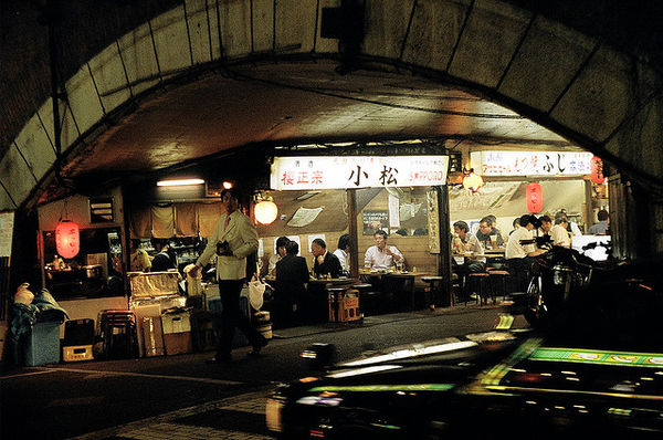 yurakucho restaurants under the train tracks