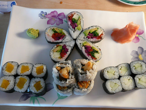 vegetarian sushi